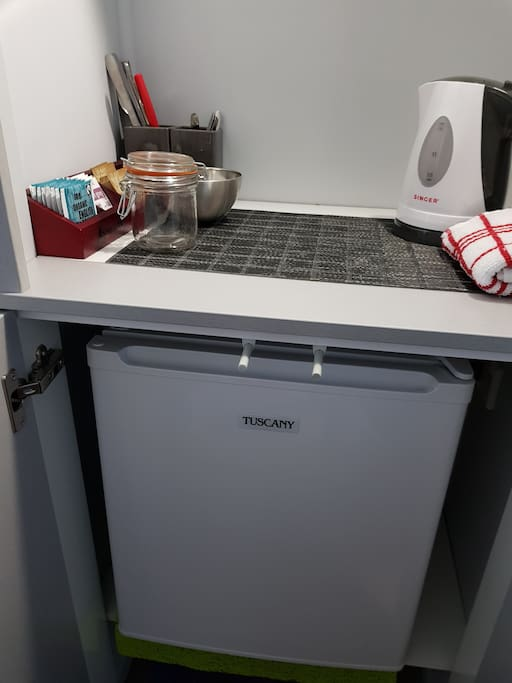 Small fridge for guests use