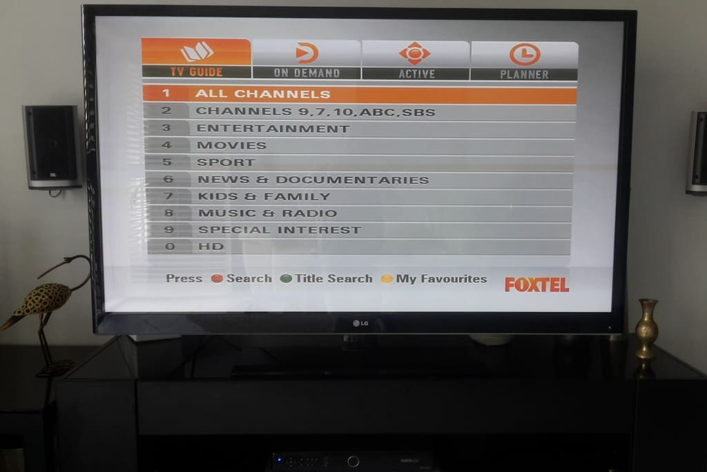 FOXTEL Platinum. Sports Movies and Children's channels.Cable TV. Recordable device
