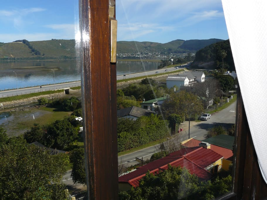 Stunning view from the top floor at Lagoon Lodge