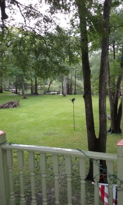 Expansive yard for games and pets