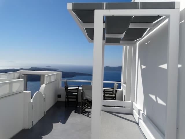 View from the private veranda of the studio