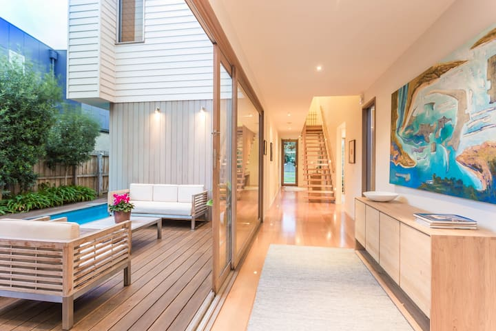 Spacious, sunny, architect-designed beach house - Barwon Heads - Casa