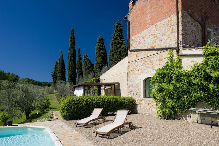 COTTAGE IN CHIANTI WITH POOL, 20 MIN FROM FLORENCE - อิมปรูเนตา - อพาร์ทเมนท์