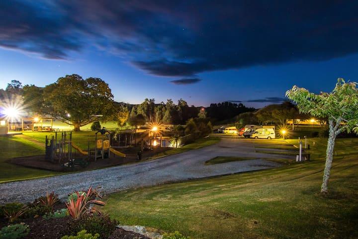 Holiday Park at dusk