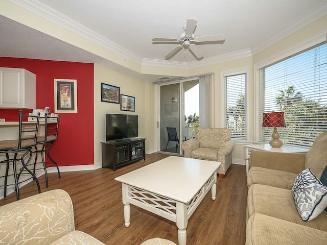 Living Room with Second Floor Ocean Views at 2206 Sea Crest