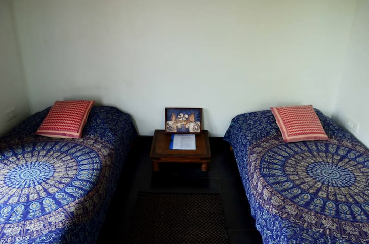 2 single beds (can be joined on request)