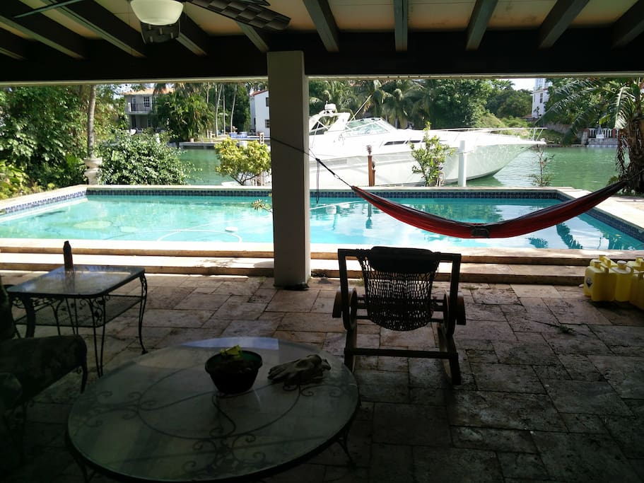 Very Large Pool with Shaded Porch