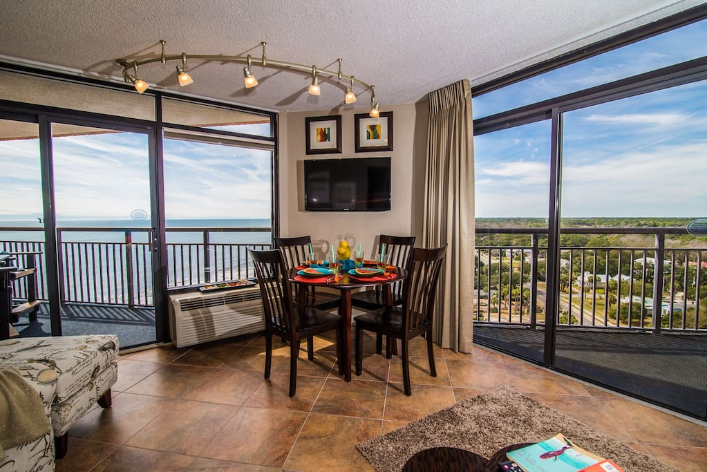 Dining Area with access to both balconies