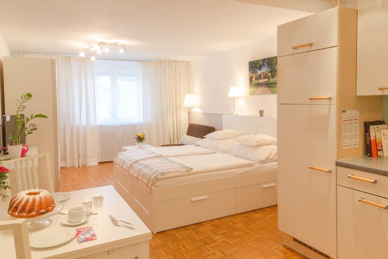 Schmuckes Studio-Apartment für 2 Gäste