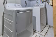During extended stays, keep your clothes fresh in the washer and dryer.