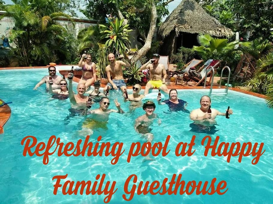 The pool at Happy Family Guesthouse
