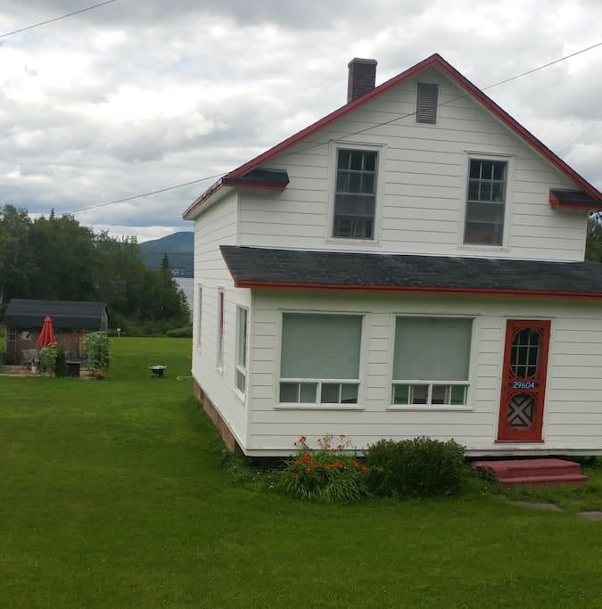 29604 Route 134, Dalhousie Junction. The house was built in  1950. It is a country home. There is nothing modern about it. It is clean and comfortable. Located on the Bay of Chaleur making the views beautiful. A nature lovers dream