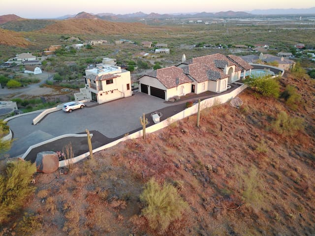 360° Views! Hill Top Estate w/ 6 Acres of Privacy!