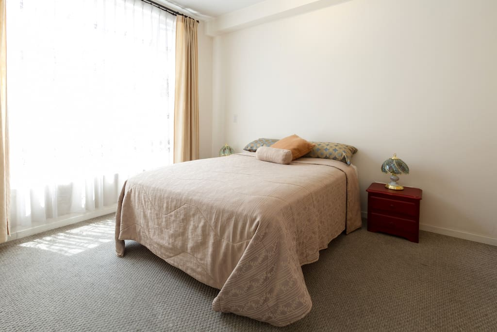 Main room with double bed