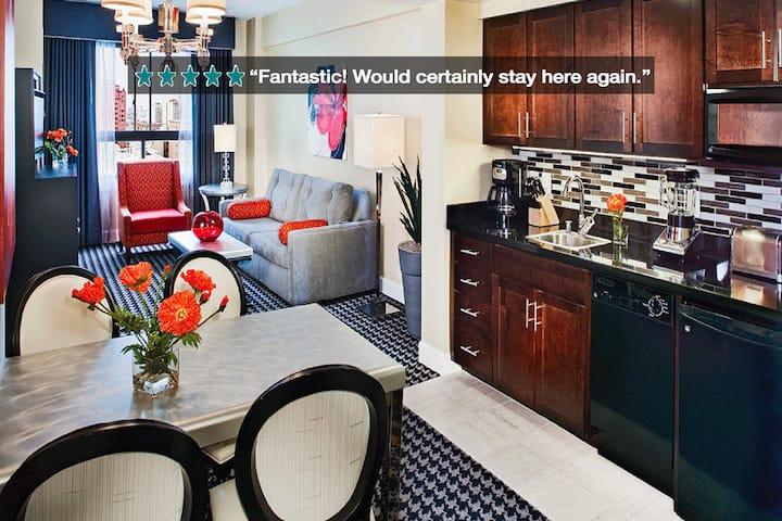 Wyndham Deluxe 1BR ApartHotel #1 - Walk to RSA!