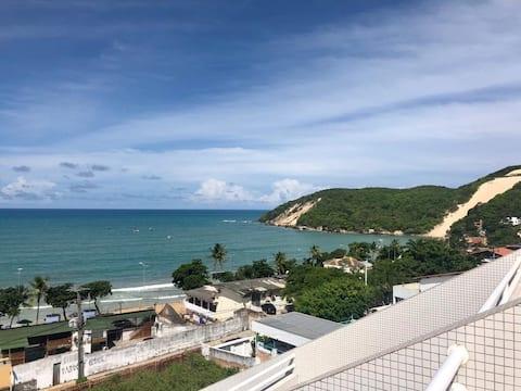 Vista de 180º para a praia de Ponta Negra