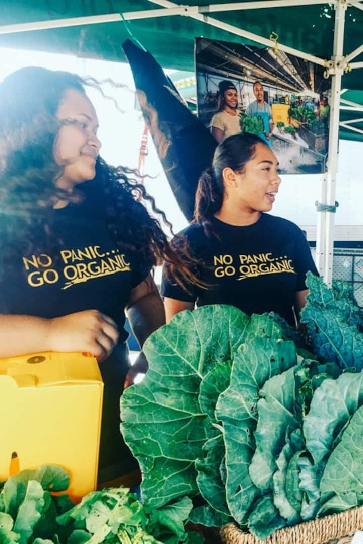 The kids from Ma'o Organic Farms