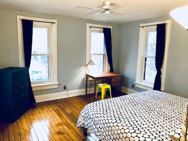 King Bedroom with desk.