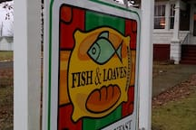 Street Signage at the Fish & Loaves.