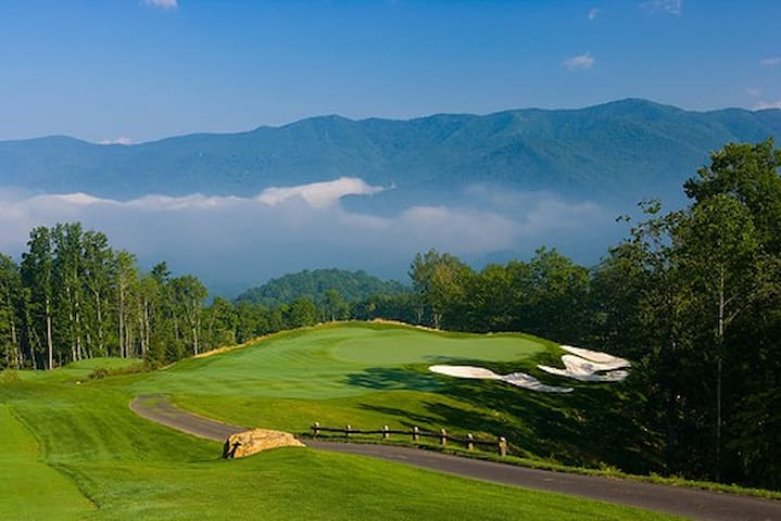 Mountain top golf.  Several top rated courses within 15 miles of cabin.