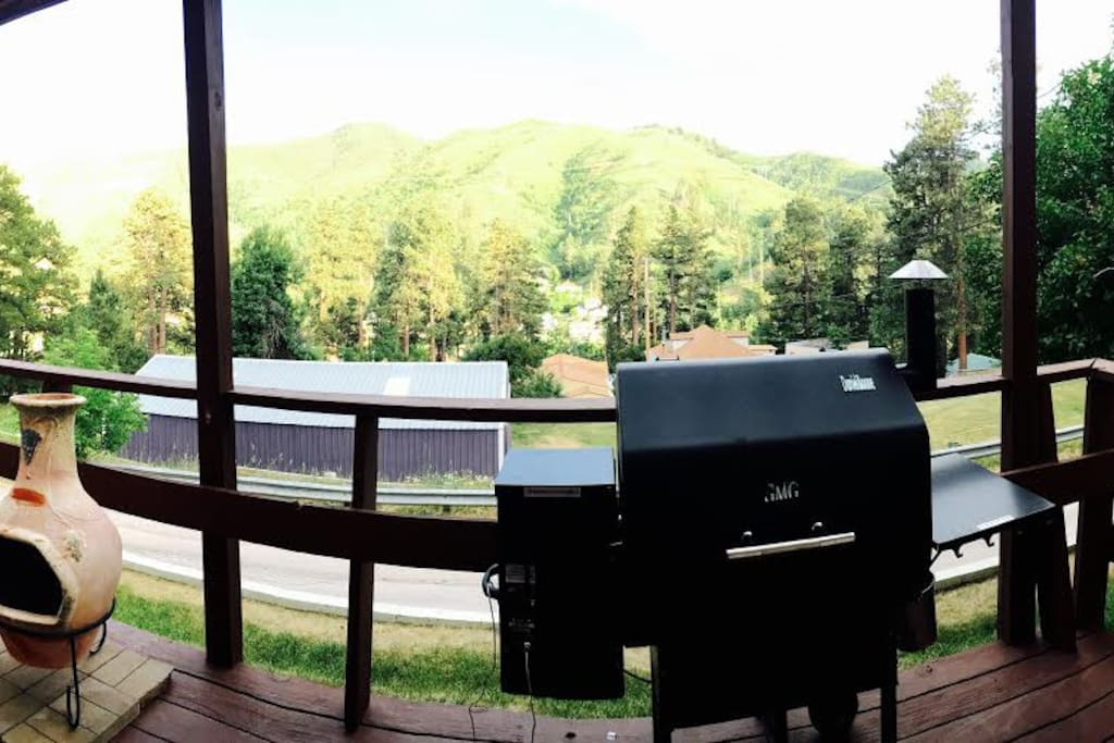 Front porch, Summer view.
