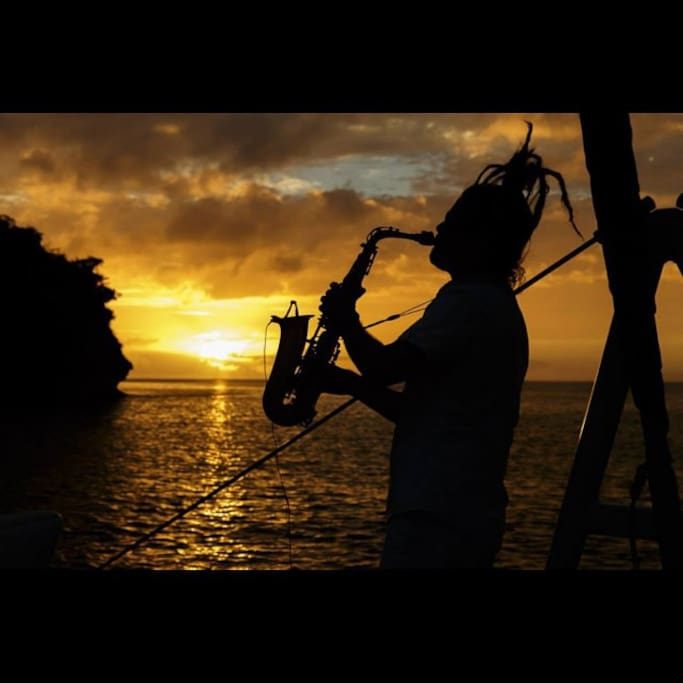 Owner Rob Zii Taylor (Sax Sunset serenade)
