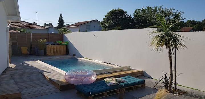 Appartement T2 avec terrasse et accès piscine