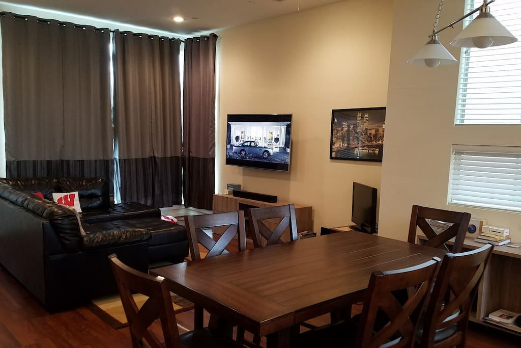 Another view of living, dining area