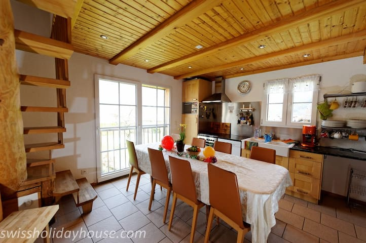 Wellness Holidayhouse in Wilderswil - Wilderswil - อพาร์ทเมนท์