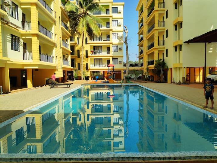 1BHK Serviced Apartment with Pool in Goa