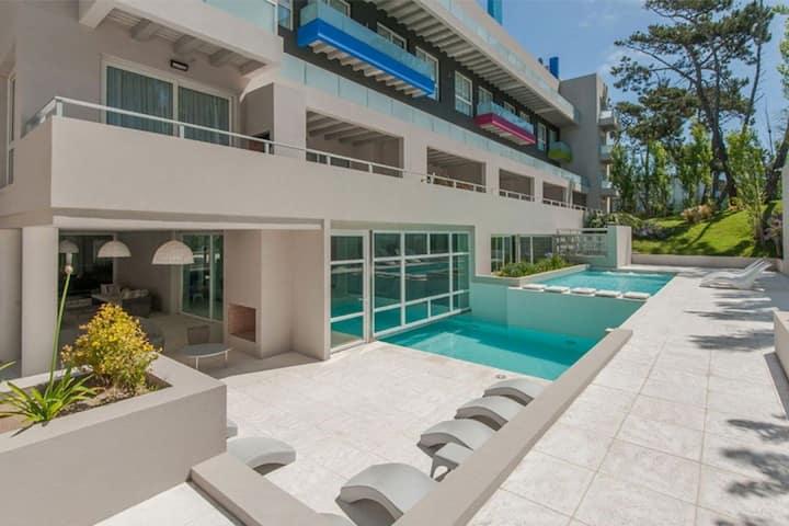 Duplex de lujo en condominio 50 mtrs del mar