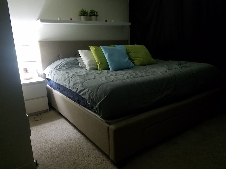 Private and relaxing room in the loft with light blocking options for easy sleeping
