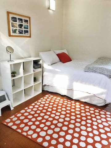 The Bunkroom - this 4th bedroom is available for use upon request. It contains a double bed and two single bunks.