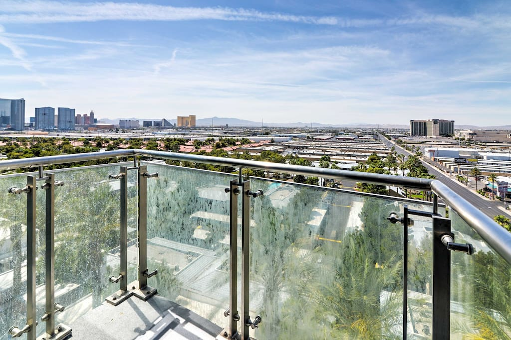 Amazing views of The Strip and mountains can be seen from your private balcony!