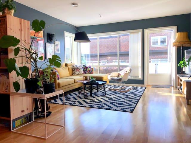 Moderne leilighet, balkong og parkering