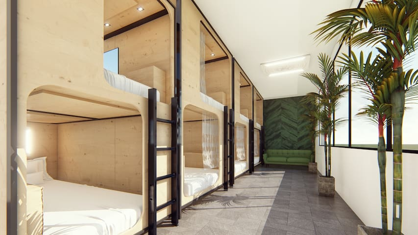 Green Marmot Capsule Hotel - Double Beds