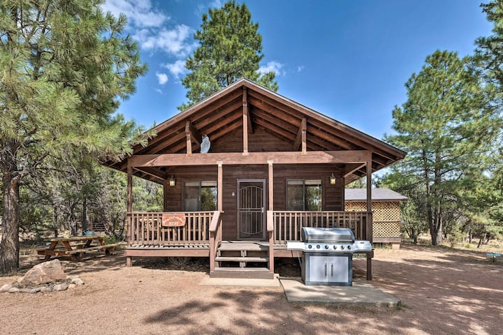 NEW! Cozy Retreat w/ Hot Tub: Walk to Bison Ranch!