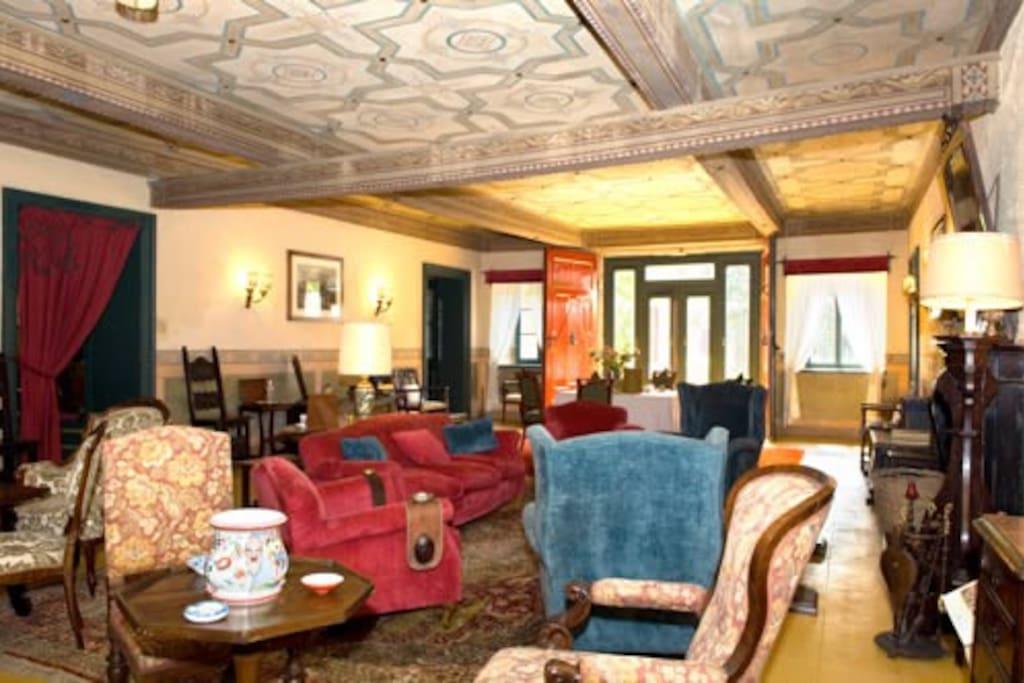 Il rilassante salotto della dimora storica