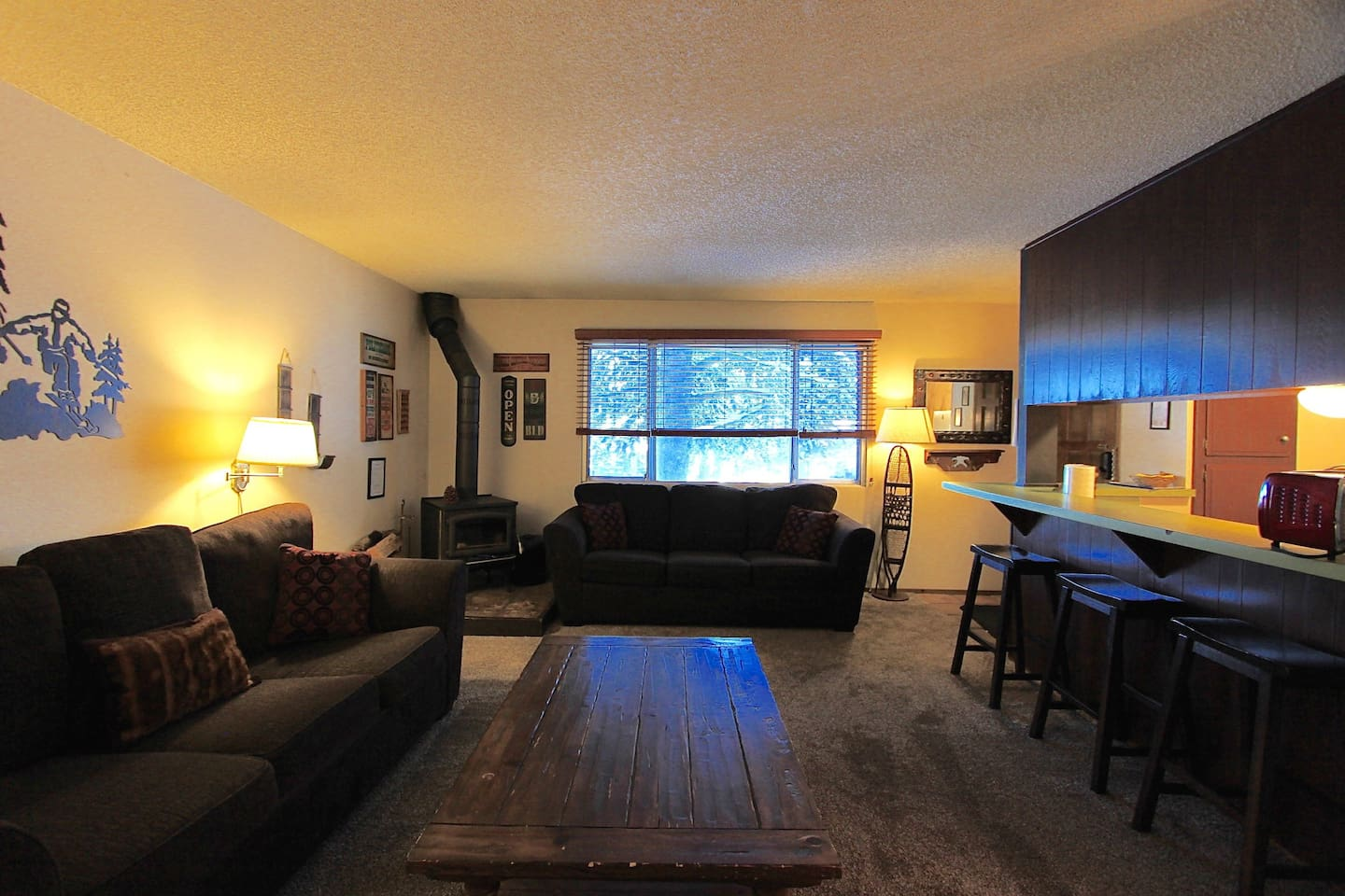 Plenty of seating in this nice open living room.