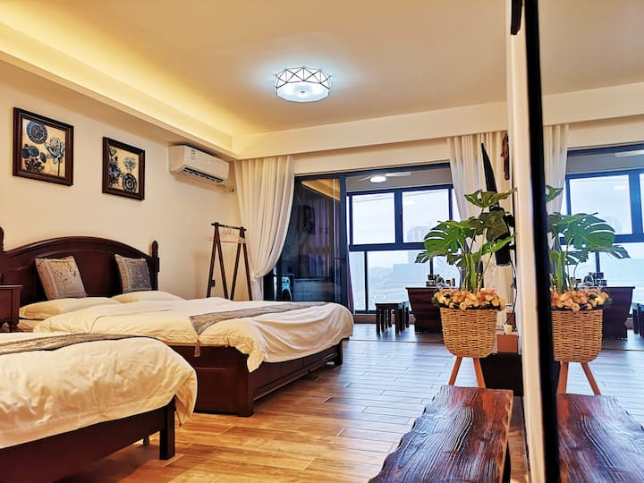 【万科·双月湾】亲海度假公寓,海岸休闲之选,自主入住,100米直达沙滩,尽享私人体验之旅