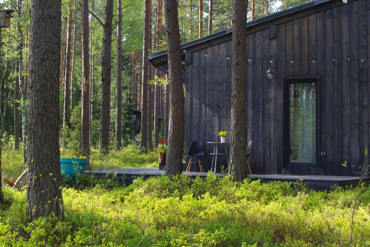 Summer-home deck where you can enjoy pine forest view and bird singing songs