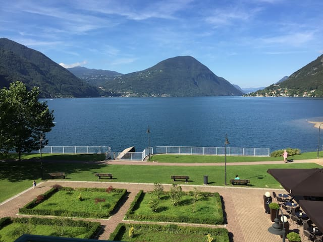 Appartement with 100% lake view - Porlezza - Apartament