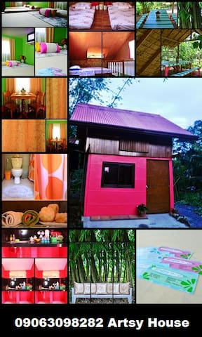 Artsy Home for 13 pax near the beach free coffee - Baler - Hus