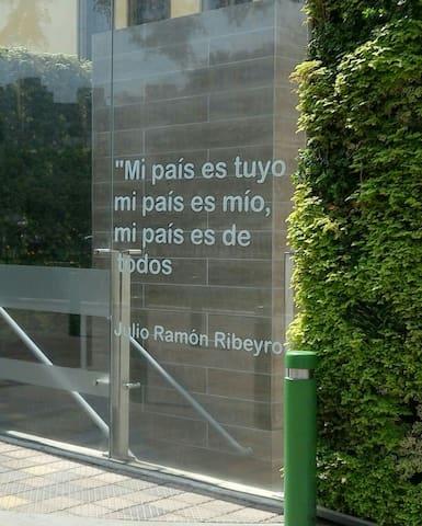 ...Nuestro amado poeta, Julio Ramón Ribeyro, te da la bienvenida al barrio