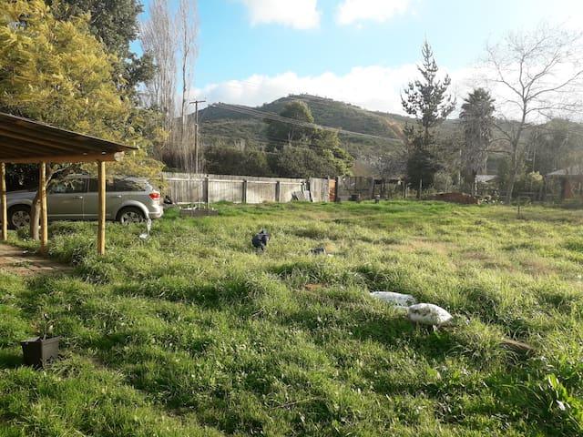 Casa familiar en el campo.