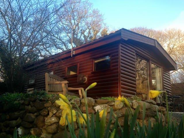 Romantic riverside lodge in stunning Snowdonia - Tal-y-bont - Cabin