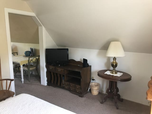 Looking into sitting room