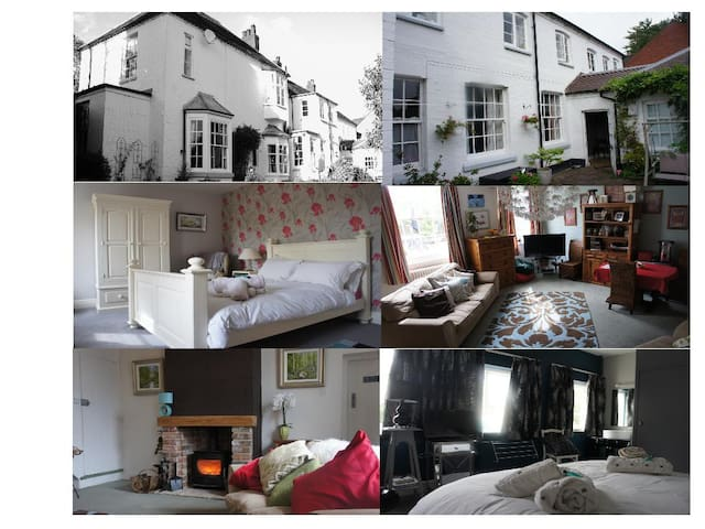 2 doubles & guest living area - Lichfield - 家庭式旅館