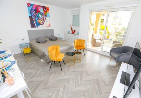 Magnifique LuxART Studio  frontière Monaco+parking