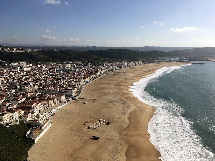 Nazare beach and downtown